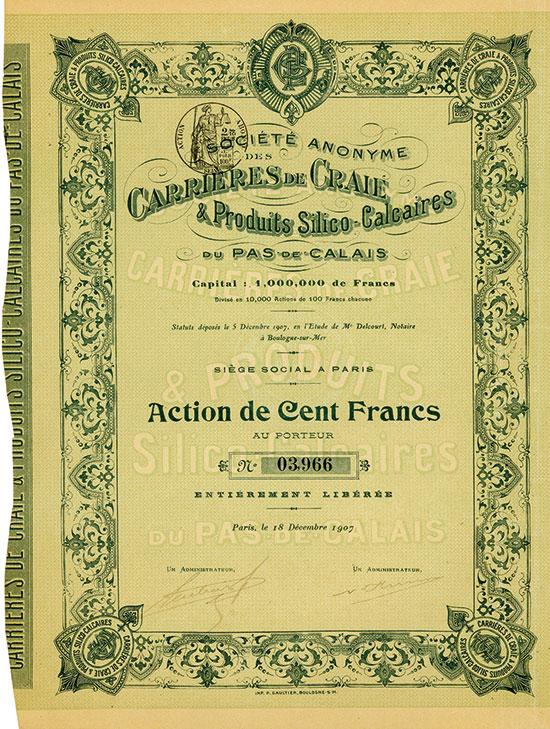 Société Anonyme des Carrieres de Craie & Produits Silico-Calcaires du Pas-de-Calais