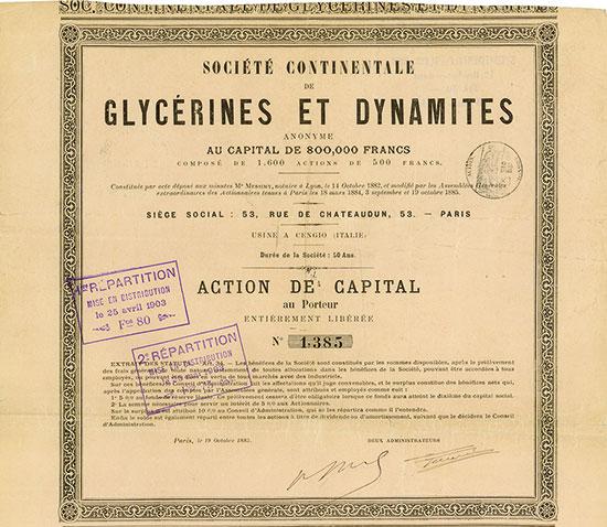 Société Continentale de Glycérines et Dynamites Anonyme