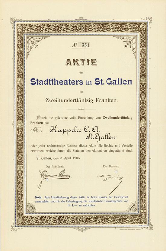 Stadttheater in St. Gallen