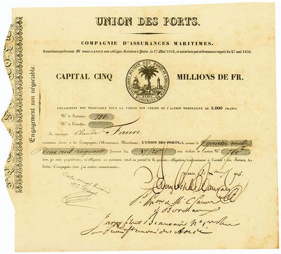 Union des Ports Compagnie d'Assurances Maritimes