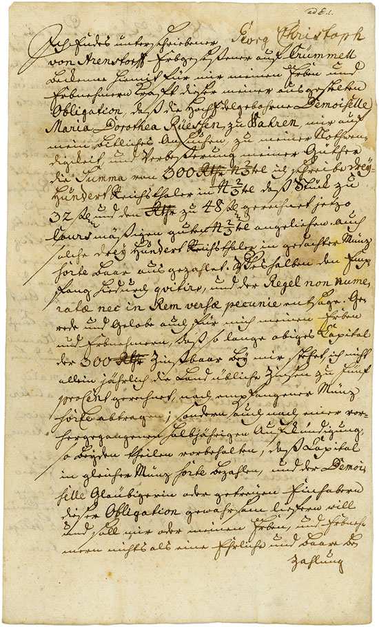 Krümmel: Georg Christoph von Arenstorff
