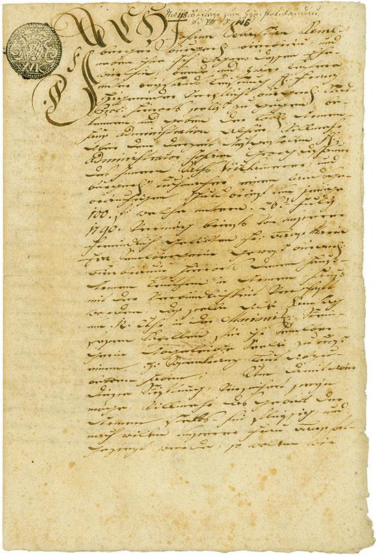 Landau an der Isar: Schuldbrief