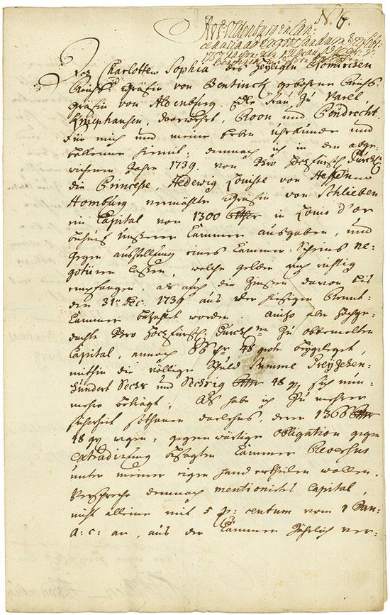 Varel: Charlotte Sophie Gräfin von Bentinck / Hedwig Luise von Hessen-Homburg