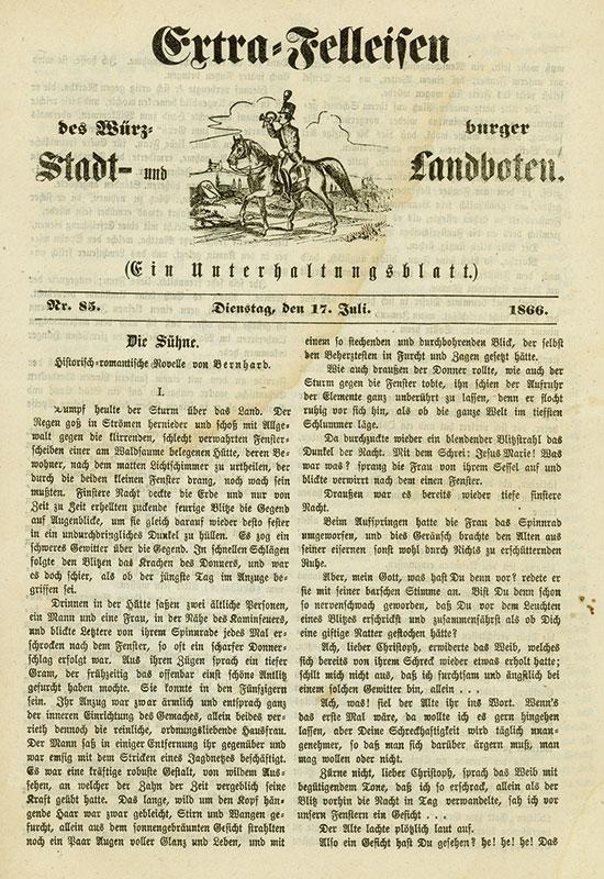 Extra-Felleisen des Würzburger Stadt- und Landboten [14 Stück]