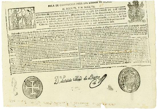 Peru: Ablassbrief / Letter of indulgence