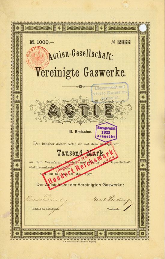 Aktien-Gesellschaft Vereinigte Gaswerke
