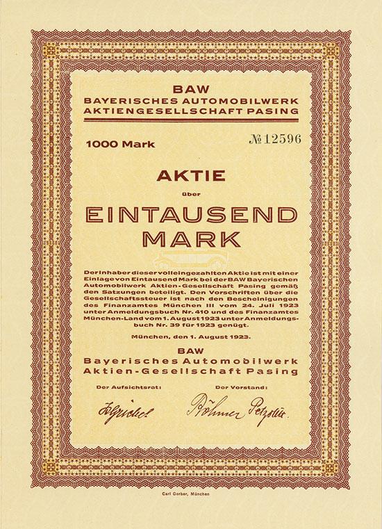 BAW Bayerisches Automobilwerk AG