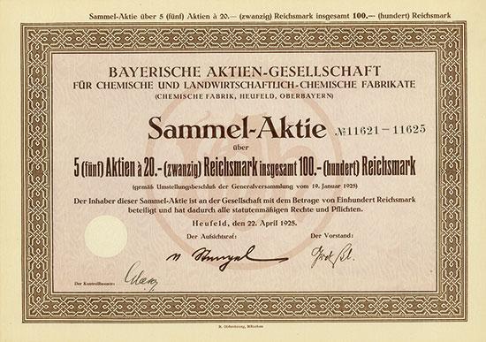 Bayerische Aktiengesellschaft für chemische und landwirtschaftlich-chemische Fabrikate