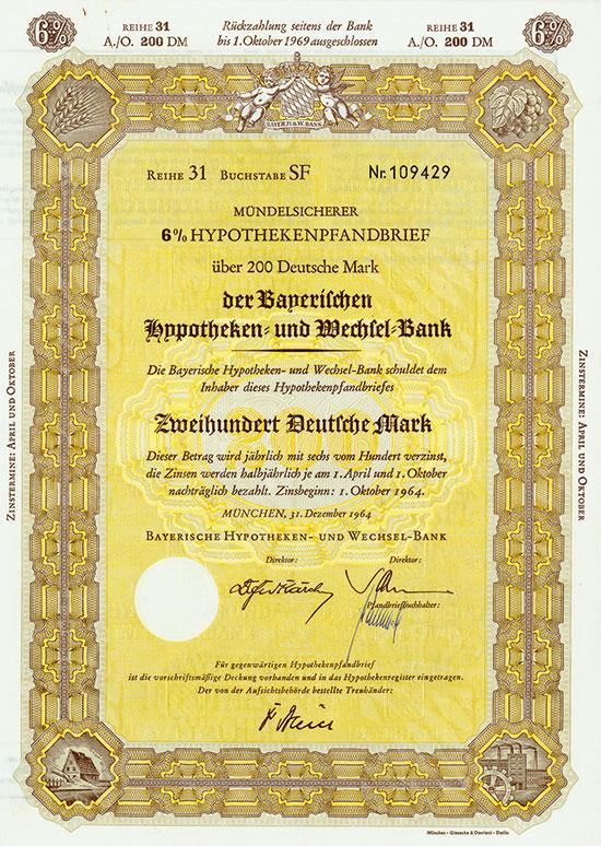 Bayerische Hypotheken- und Wechsel-Bank [2 Stück]