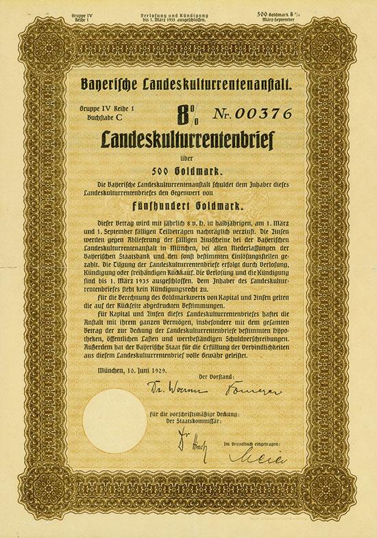 Bayerische Landeskulturrentenanstalt [3 Stück]