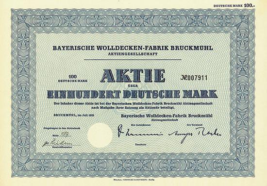 Bayerische Wolldecken-Fabrik Bruckmühl AG