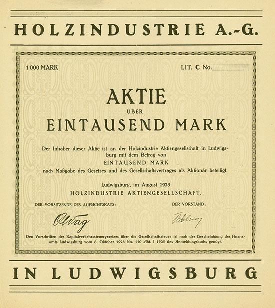Holzindustrie A.-G.