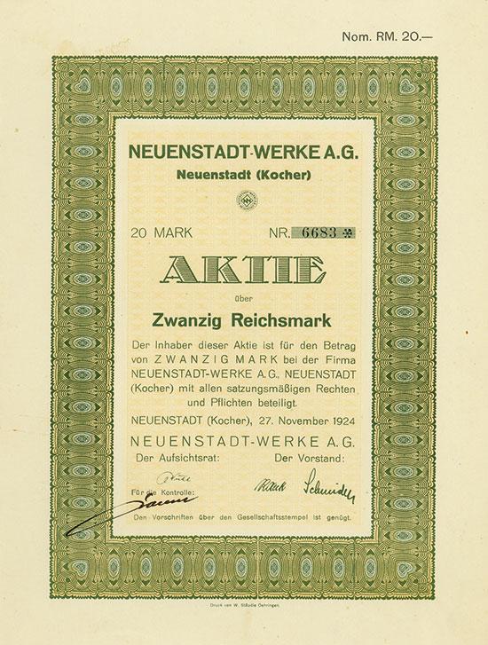 Neuenstadt-Werke A.G.