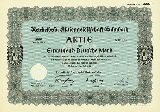 Reichelbräu Aktiengesellschaft Kulmbach [15 Stück]