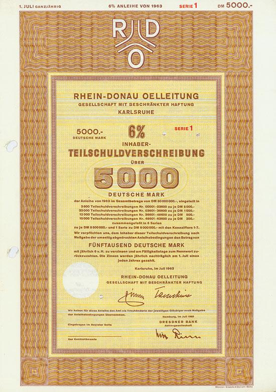 Rhein-Donau Oelleitung GmbH [3 Stück]