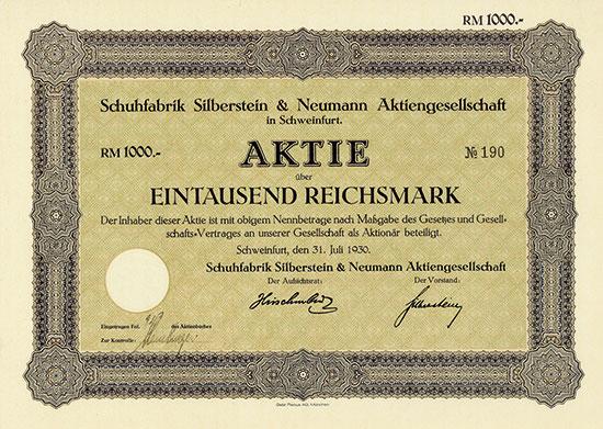 Schuhfabrik Silberstein & Neumann AG