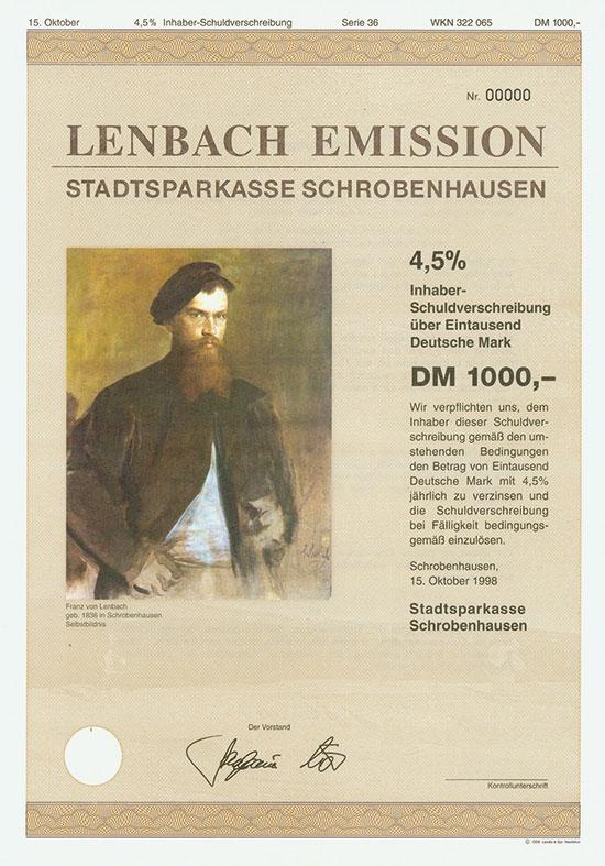Stadtsparkasse Schrobenhausen (Lenbach Emission)