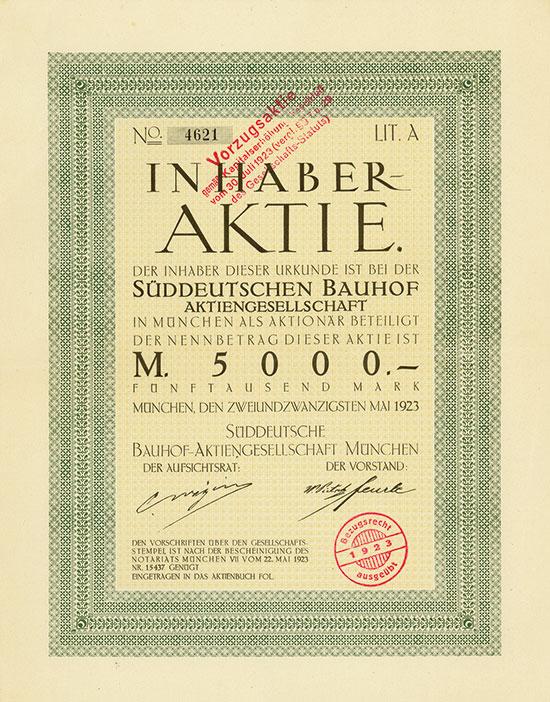 Süddeutsche Bauhof-AG