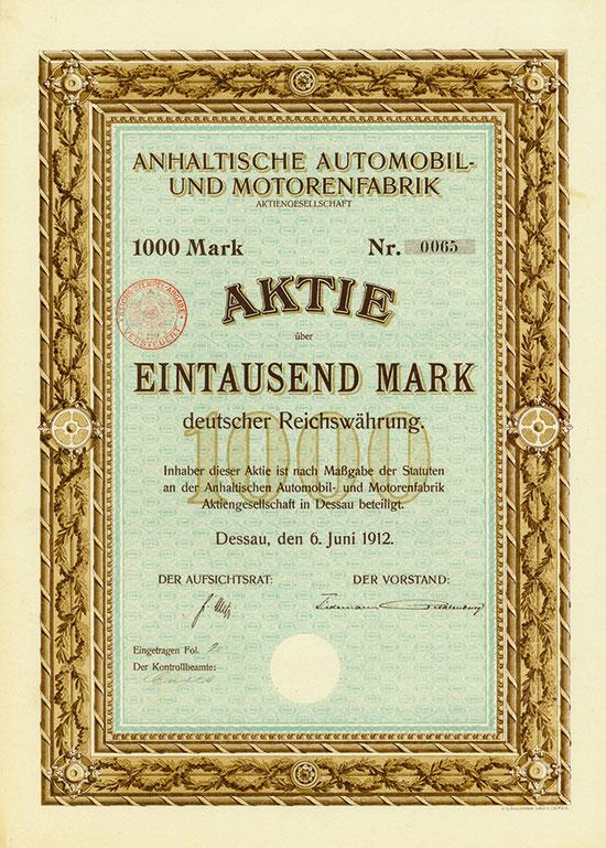 Anhaltische Automobil- und Motorenfabrik AG