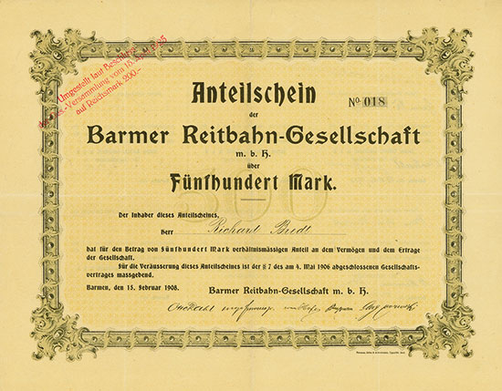 Barmer Reitbahn-Gesellschaft mbH