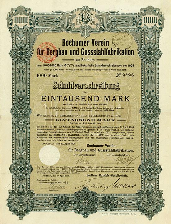 Bochumer Verein für Bergbau und Gussstahlfabrikation
