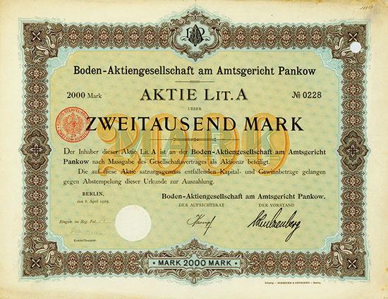 Boden-Aktiengesellschaft am Amtsgericht Pankow