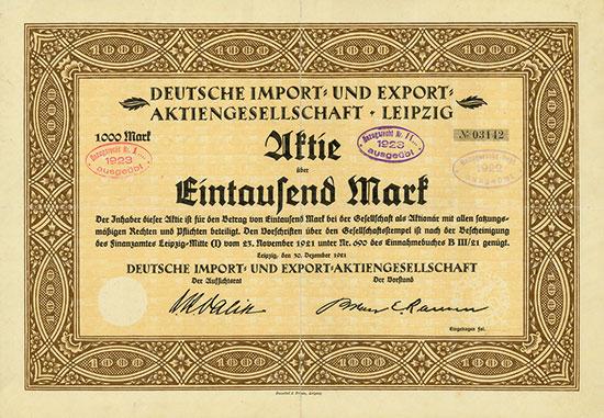 Deutsche Import- und Export-AG