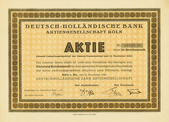 Deutsch-Holländische Bank AG