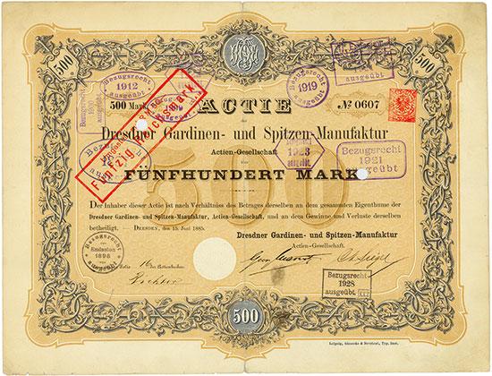 Dresdner Gardinen- und Spitzen-Manufactur AG