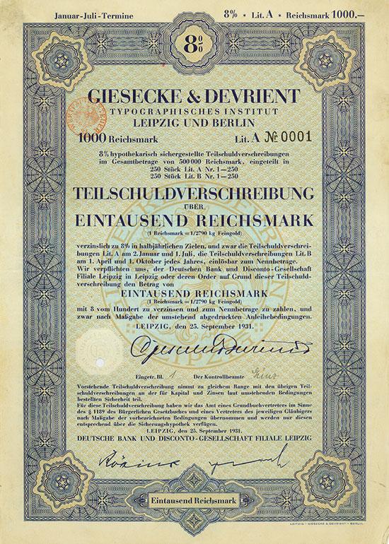 Giesecke & Devrient Typographisches Institut