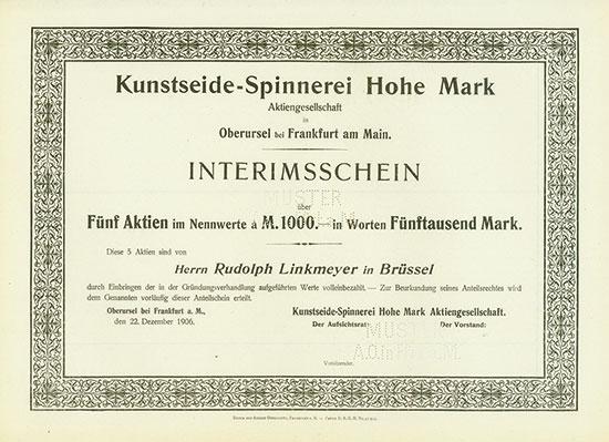 Kunstseide-Spinnerei Hohe Mark AG