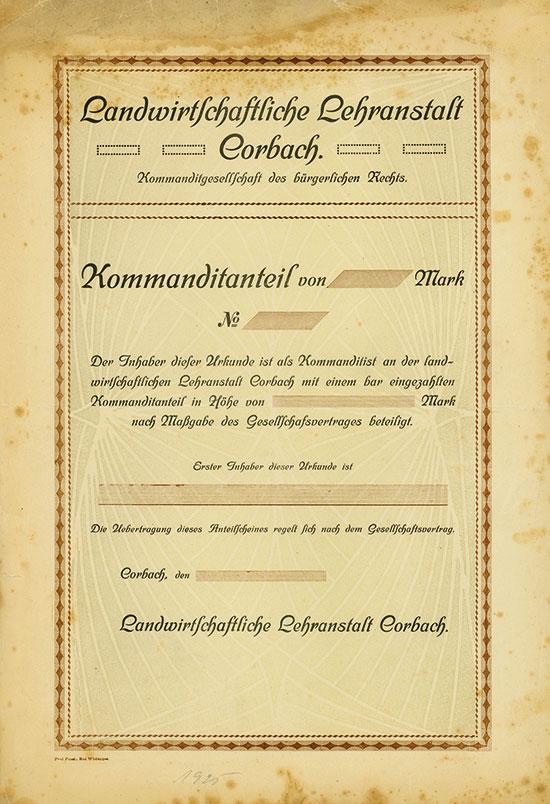 Landwirtschaftliche Lehranstalt Corbach KGbR