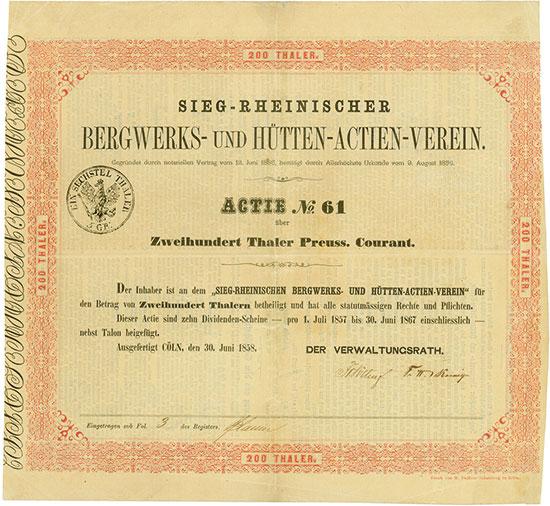 Sieg-Rheinischer Bergwerks- und Hütten-Actien-Verein