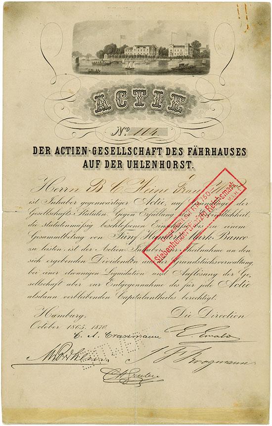 Actiengesellschaft des Fährhauses auf der Uhlenhorst