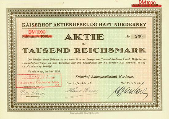 Kaiserhof Aktiengesellschaft Norderney
