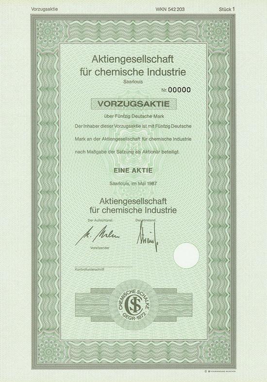 Aktiengesellschaft für chemische Industrie