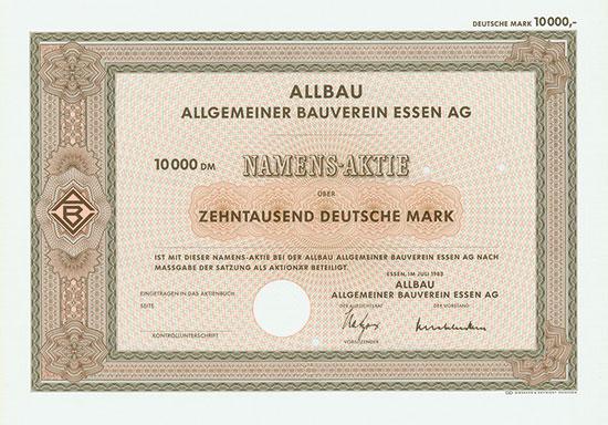 Allbau Allgemeiner Bauverein Essen AG
