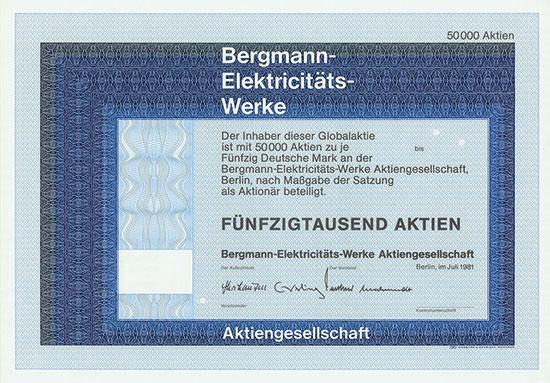 Bergmann-Elektricitäts-Werke AG