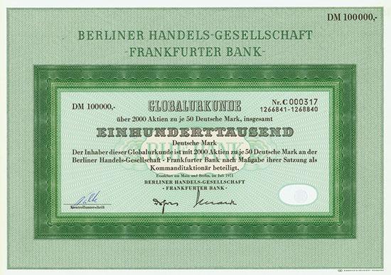 Berliner Handels-Gesellschaft - Frankfurter Bank
