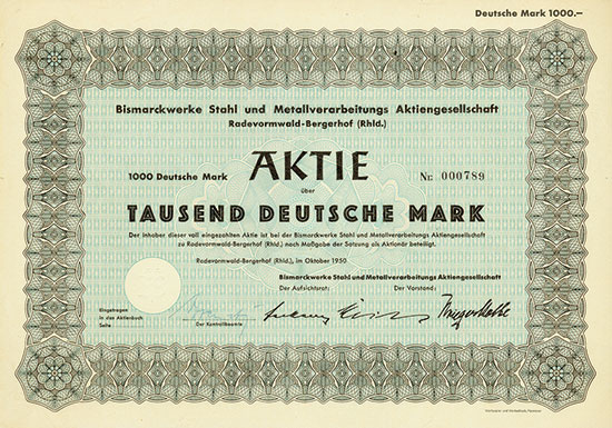 Bismarckwerke Stahl und Metallverarbeitungs AG