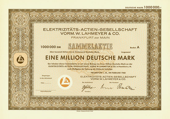 Elektrizitäts-Actien-Gesellschaft vorm. W. Lahmeyer & Co.