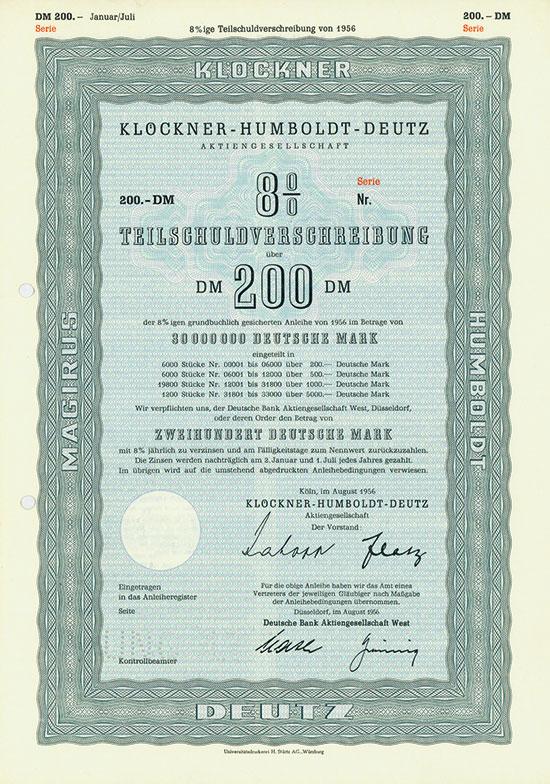 Klöckner-Humboldt-Deutz AG [4 Stück]