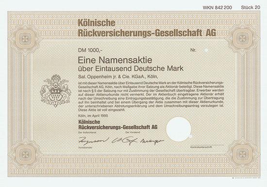 Kölnische Rückversicherungs-Gesellschaft AG