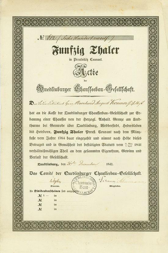 Quedlinburger Chausseebau-Gesellschaft