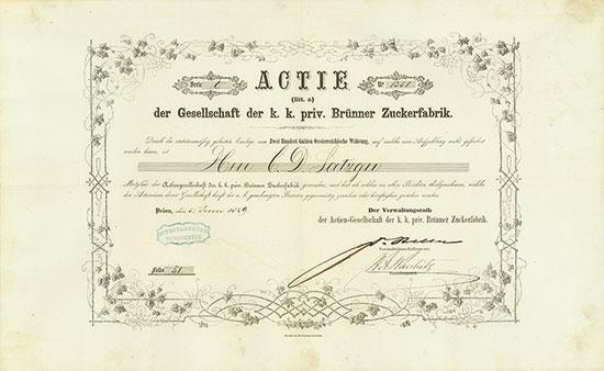 Actien-Gesellschaft der k. k. priv. Brünner Zuckerfabrik
