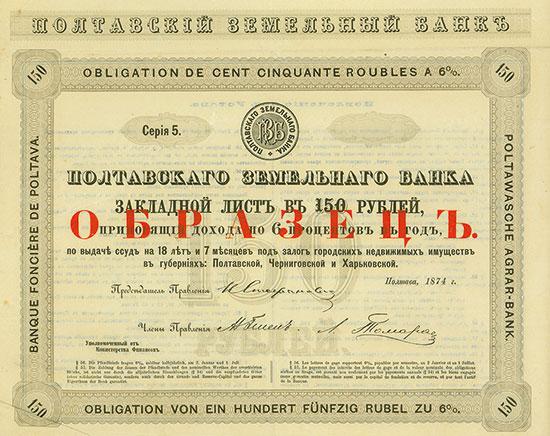 Poltawasche Agrar-Bank / Banque Foncière de Poltawa