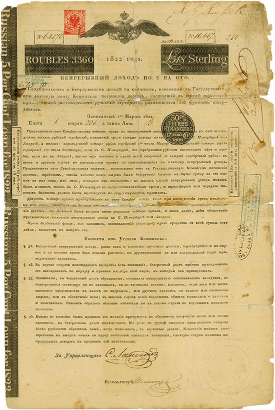 Kaiserreich Russland (Original-Signatur Nathan Rothschild)