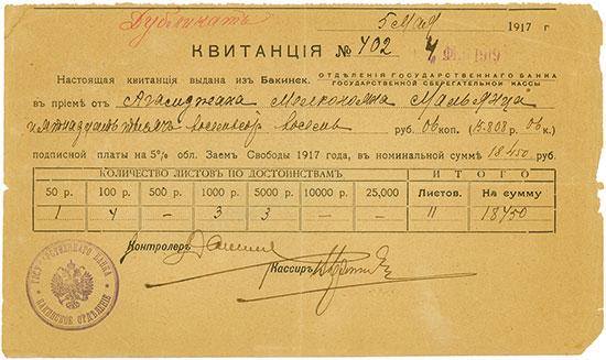 Staatliche Sparkasse - Abteilung der Staatsbank in Baku