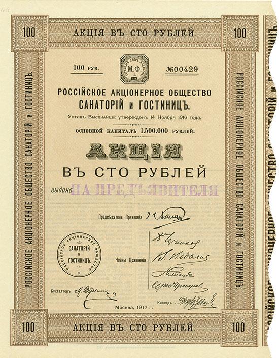 Russische Aktiengesellschaft für Sanatorien und Hotels