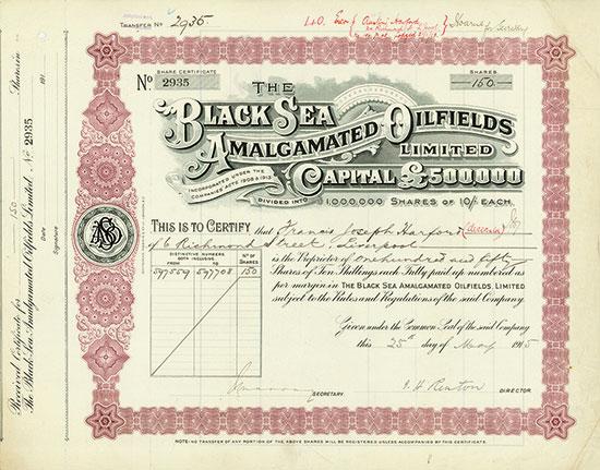 Black Sea Amalgamated Oilfields Limited